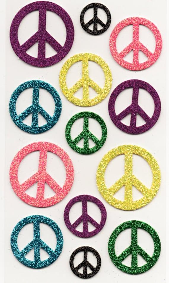 Jolee/'s PEACE SIGNS 3d Scrapbook Stickers