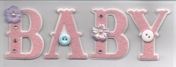 New Baby Girl Pink Craft Embellishment Stickers Cardmaking Scrapbooking