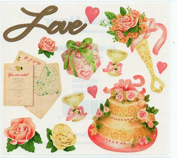 True Love Valentine Romance Frances Meyer Scrapbook Stickers Etsy