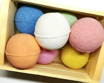 Bath Bomb Gift Set / Bath Bombs / Spa Gift / Mini Bath Bombs / SLSA Free Bath Bomb / Pedi Bomb / Bath Bomb Set