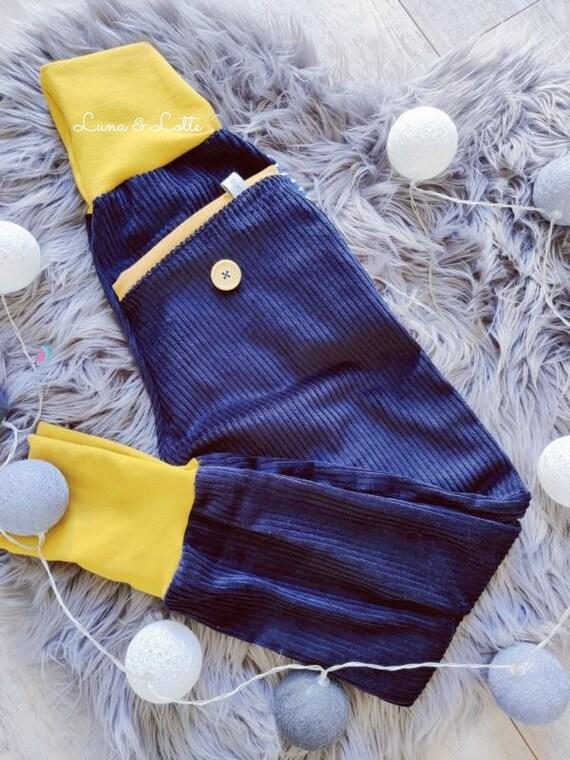 Price from 45.95 Euro Corduroy pants pants blue mustard so cool 74-152 widecord button pants Waldorf kids mustard colors cord Waldorf boys