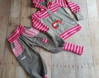 Bunny Bloomers cord trousers Pink pink grey