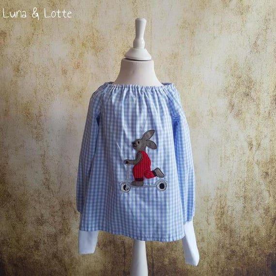 schooling 68-140 ofering tunic tunic dress Tunic Blue Vichy horse Pony Lulu Gr Waldorf Blue