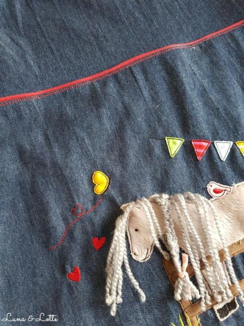 Latzkleid Horse Molly Denim Dress Horse Dress Pennant Size 50-146