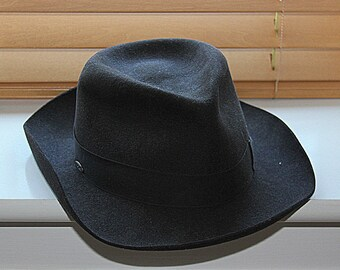 Mayser Exclusive Gentleman's Hat Fedora, dark umber brown (European) size 59