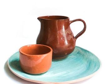 Brown pitcher set