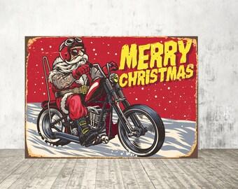 Merry Christmas print, Merry Christmas sign, Santa Claus print, Santa Claus wall art, Santa Claus sign, Merry christmas art, Christmas sign