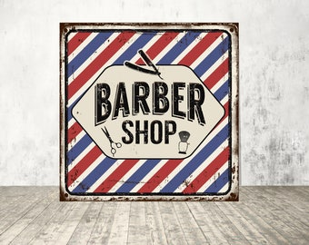 Barber shop, Barber shop sign, Barber shop metal sign, Barber sign, Barber shop retro, Barber shop vintage sign, Sign print