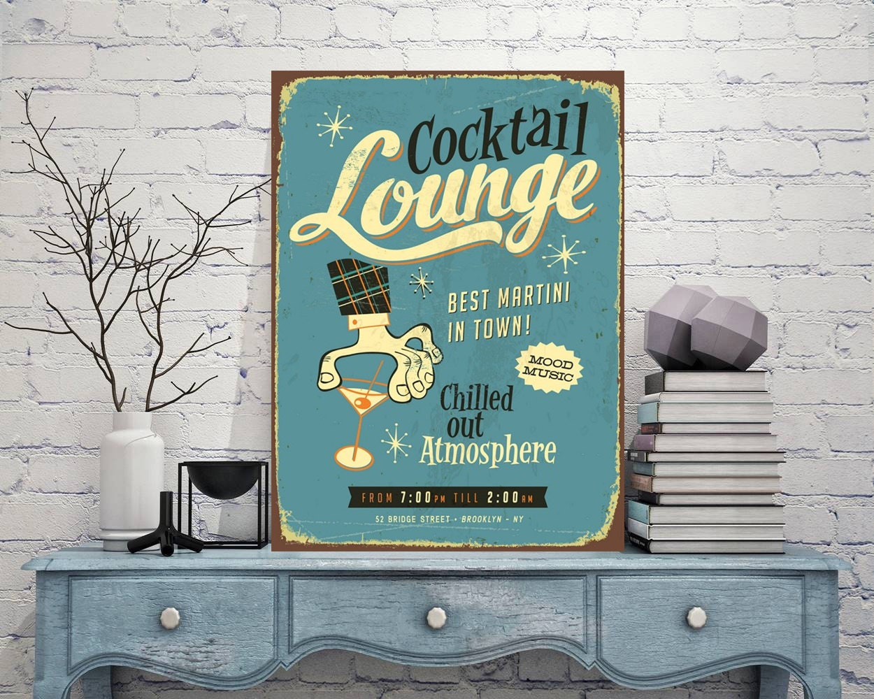 LOUNGE Signs Lounge Sign Lounge Decor Art Prints Metal | Etsy