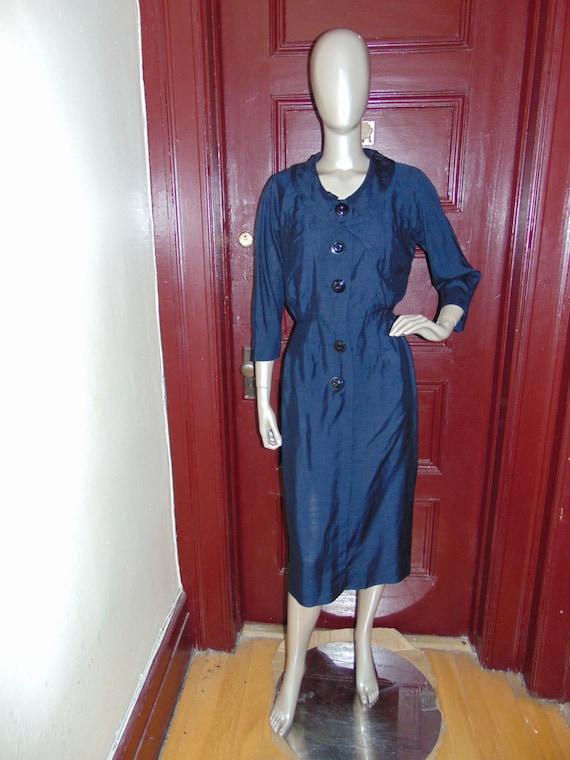 Vintage JACKLIN  Raw Silk Dress