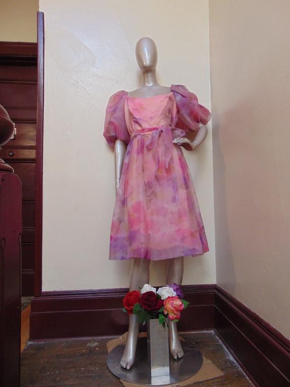 Pretty Puffy Pink Dress