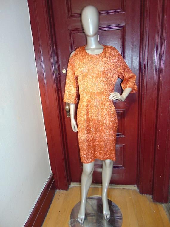 Vintage Cut out Shoulder Sheath Dress
