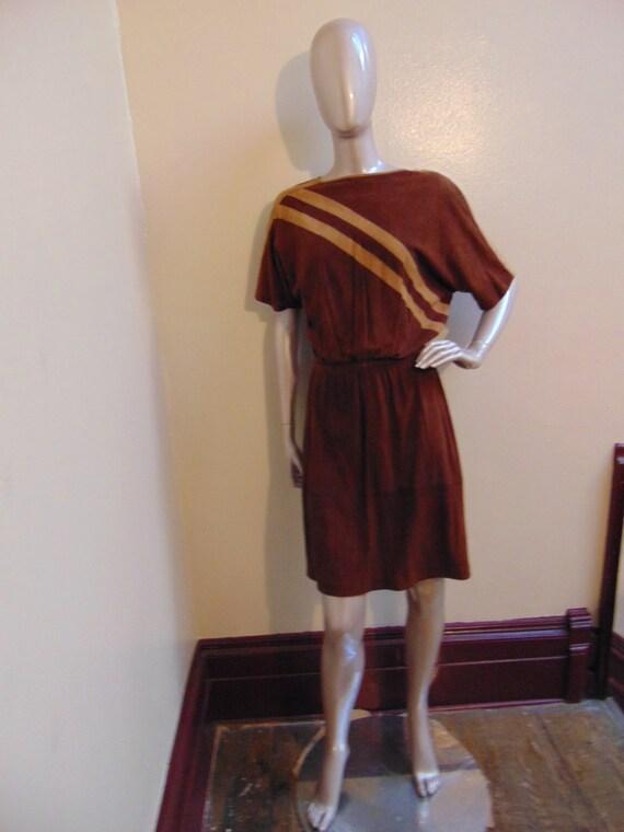 Brown Suede Short Dress