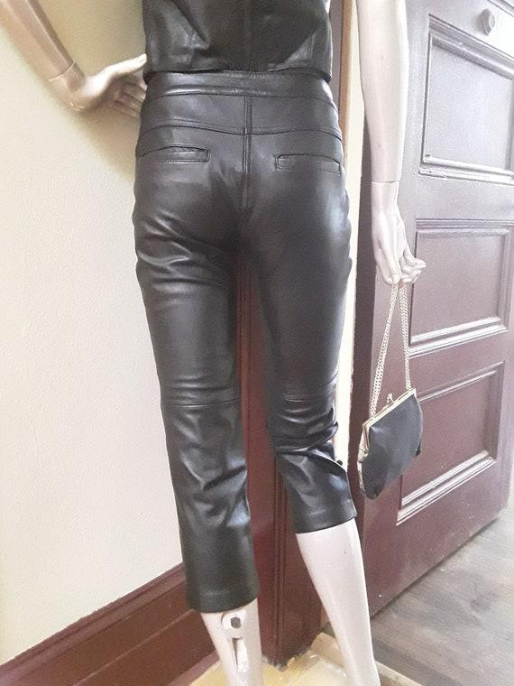 Leather Capris
