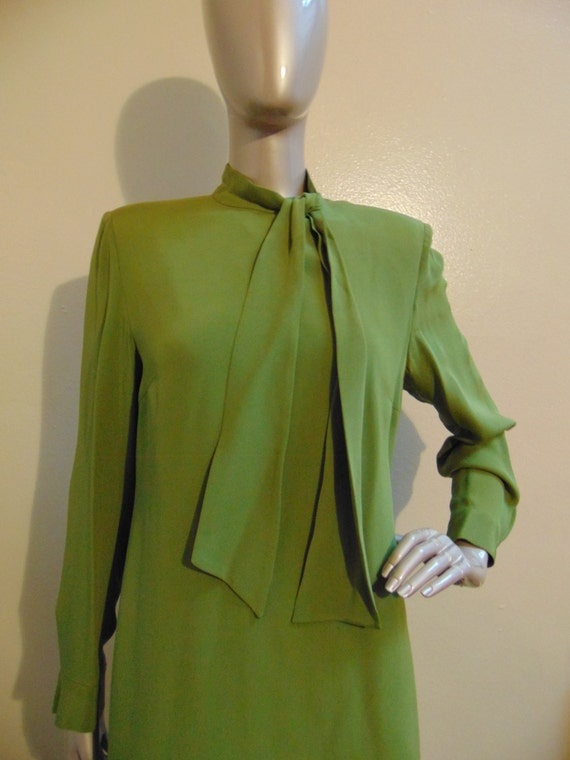 Green Bow Tie Dress - image 3