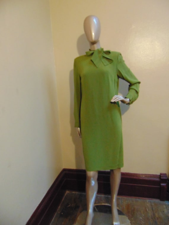 Green Bow Tie Dress - image 1