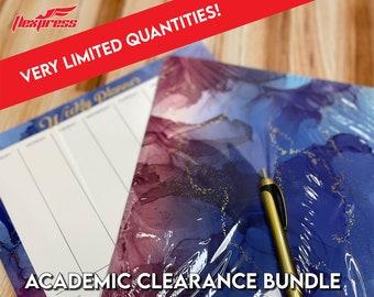 2021-2022 Academic Clearance Bundle!!! - Blue Swirl Design Calendar l Weekly Calendar Pad