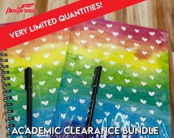2021-2022 Academic Planner Clearance Bundle!!! - Rainbow Heart Design  Planner l Calendar l Stickers!!!
