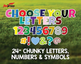 24 Inch Chunky Letters & Numbers Yard Decorations