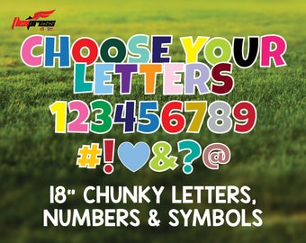18 Inch Chunky Letters & Numbers Yard Decorations
