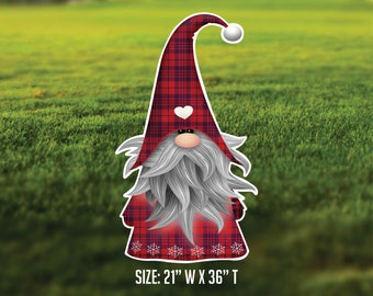 Red Christmas Gnome Yard Art - Party - Yard Decor