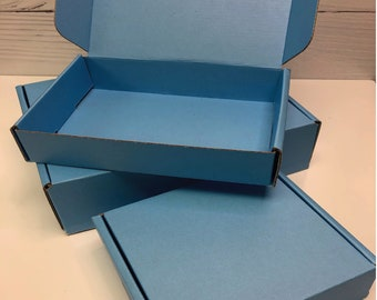 Pastel Sky Blue Corrugated Box ~ 3 Sizes ~ MANY Colors and Patterns MANY uses