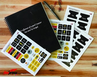 Chalk board Design  | Academic planner 2021-2022 | 13 Month  | July 2021 - July 2022  FREE STICKERS!  .  FPPKGCB