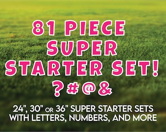 """81 Piece Professional Yard Sign Starter Kit! Available in 24""""/30""""/or 36"""" high letters in choice of 24 colors"""