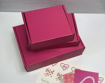 Cherry Pink Corrugated Box ~ 3 Sizes ~ MANY Colors and Patterns MANY uses