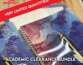 2021-2022 Academic Planner Clearance Bundle!!! - Blue Swirl Design  Planner l Calendar l Weekly Calendar Pad l Stickers!!!