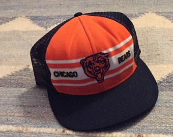 new product cd197 16860 Vintage Chicago Bears Hat Trucker Hat NFL Chicago Snap Back