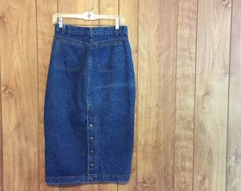 74a42f39 80's Levi's Denim Skirt // Levi's Women // Vintage Levi's // Button Denim  Skirt // A Line Skirt // High Waist Denim Skirt // Size 11