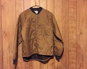 Quilted Liner Jacket Quilted Work Jacket Shop Jacket Vintage Bomber Small