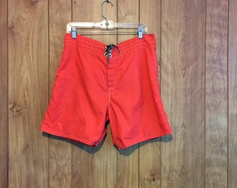 214390d7a9 70's Birdwell Beach Britches Vintage Board Shorts Vintage Swim Shorts Surf  Shorts // 34 35