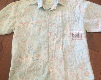 1f1d3f94a6 90's Beach Bum Surf Shirt California Button Up 90's 80's Print Beach Shirt