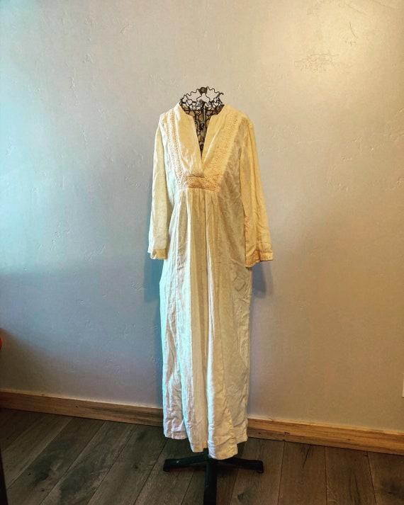 70s gauze dress union made embroidered beach weddi