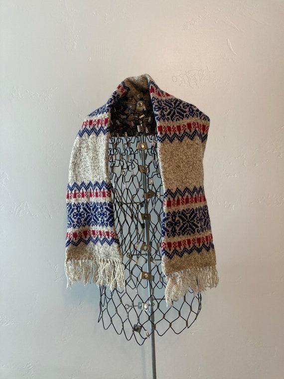 Pendleton wool knit Nordic scarf - image 1