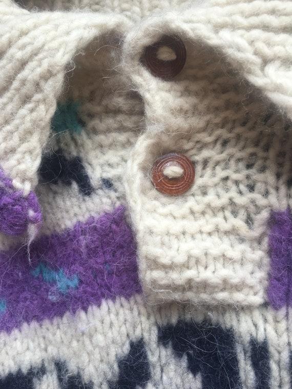 80 / s pull Cowichan Ski nordique / / 80 collier pull en laine 50dea7