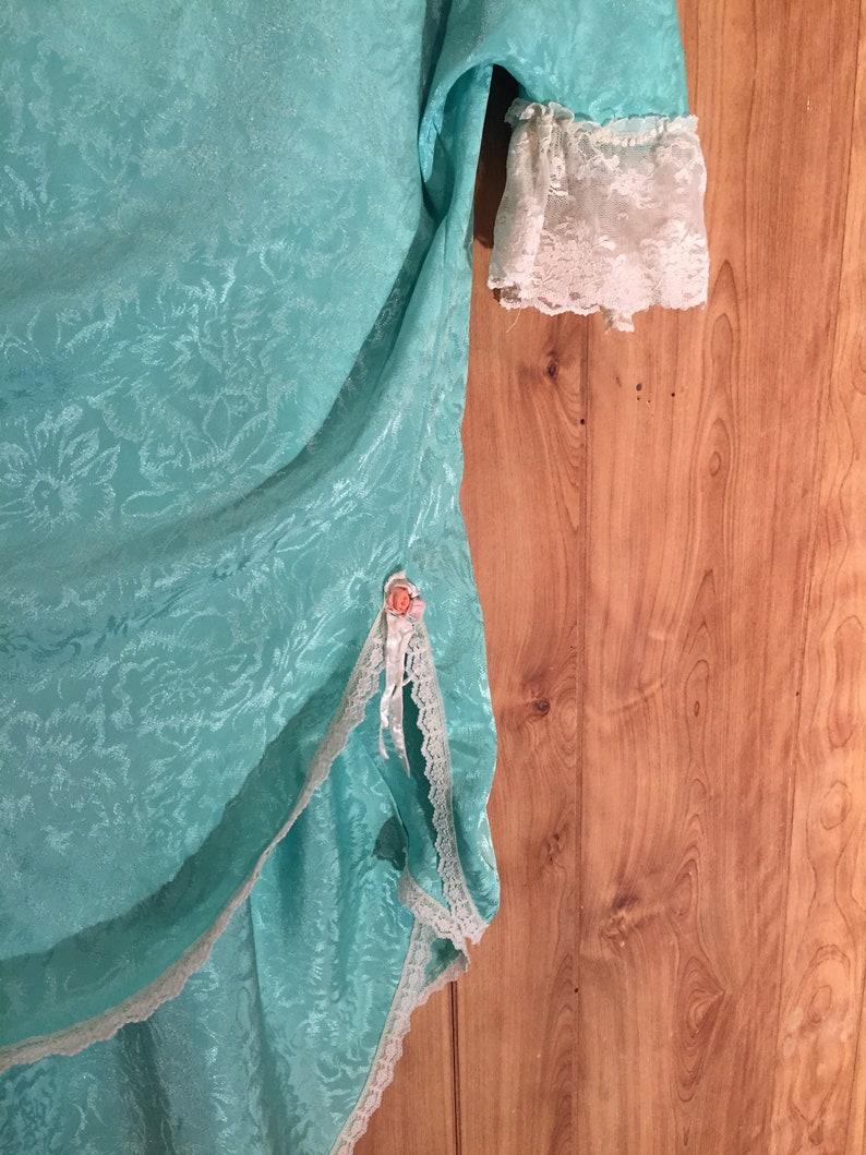 Mid Century Turquoise Lingerie Set  M L