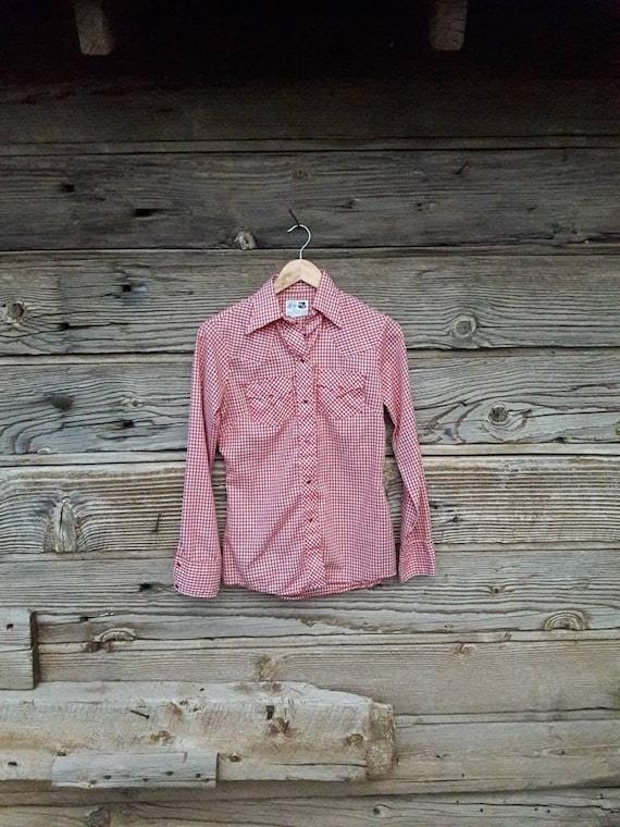 60s Western Pearl Snap Shirt Lady DJ Dickson Jenki