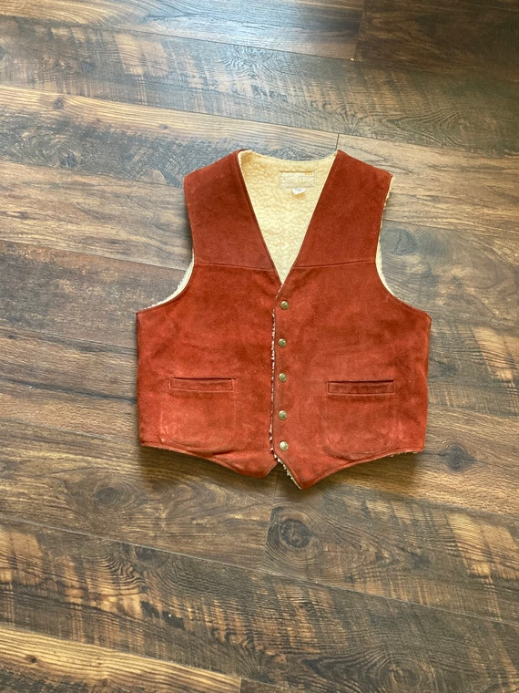 60s Tregos Suede and Sherpa Vest Western leather s