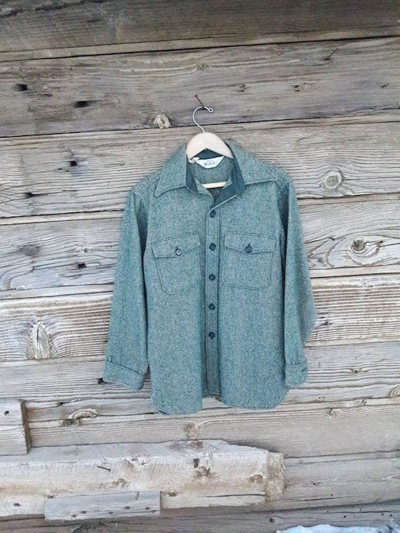 Vintage Woolrich Shirt Jacket Heavy Wool Shirt Hun