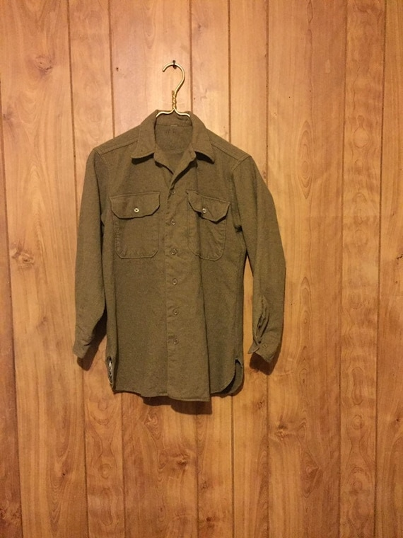 50s Wool Camp Shirt Wool Shirt Jacket Utility Shir