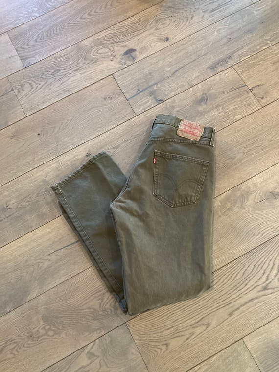 80s Army Green Levis 501 jeans vintage levis drab