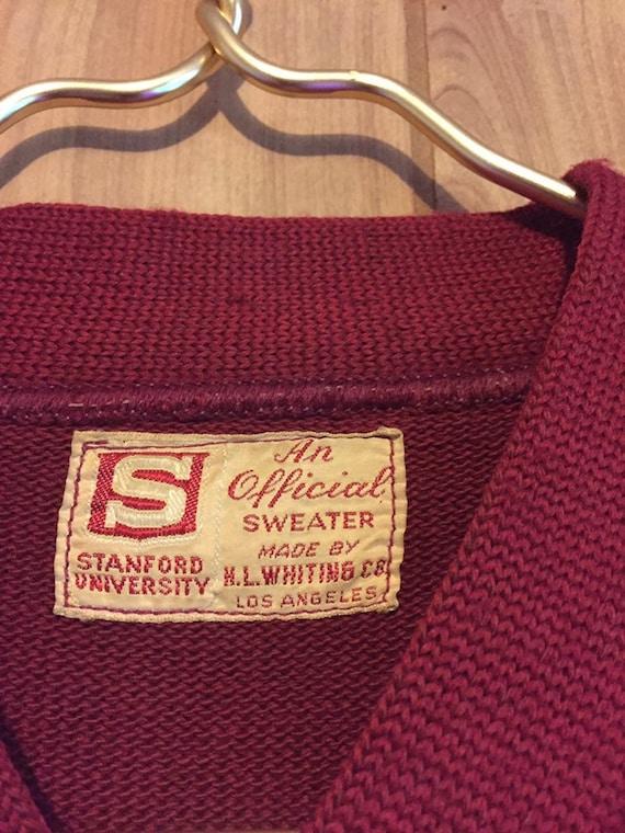 50s Stanford University Varsity Sweater // Stanfo… - image 4
