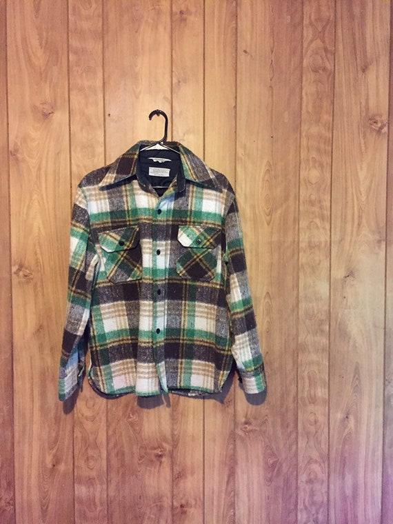 Vintage Wool CPO Jacket CPO Coat Wool Shirt Jacket