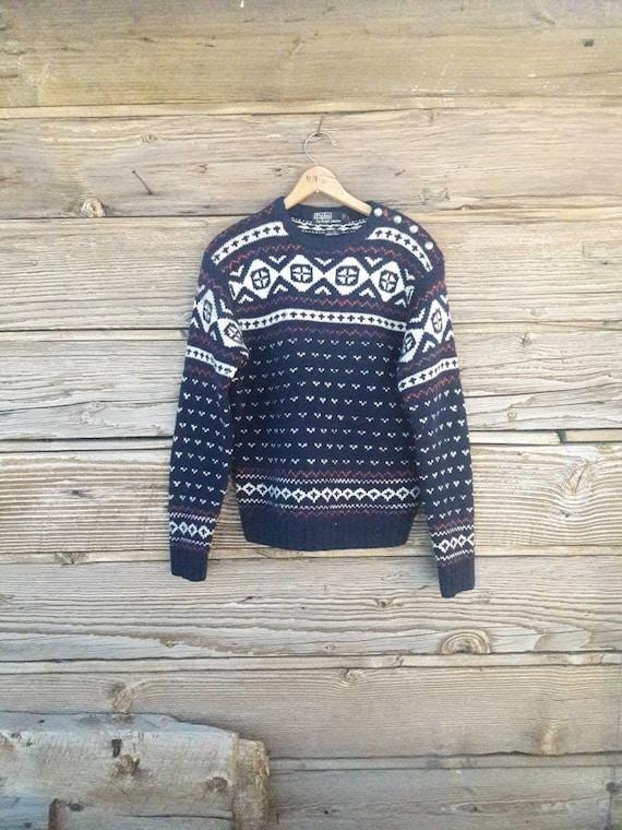 Vintage Polo Ralph Lauren Nordic Wool Sweater Fair