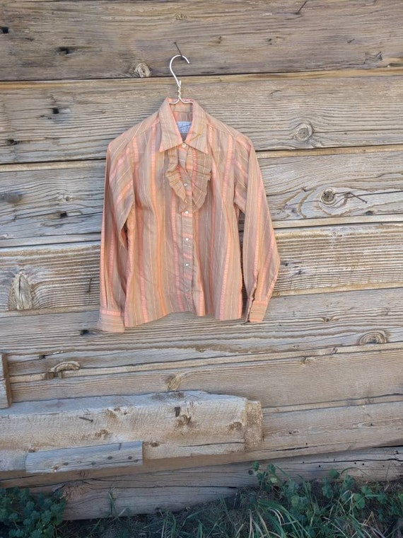 50s Rockmount Ranch Wear Western Cowgirl Shirt Met