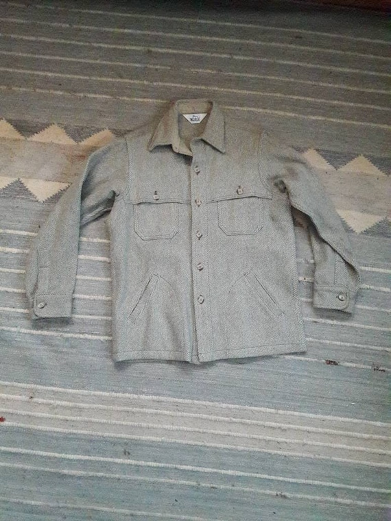 Vintage Woolrich Shirt Jacket CPO Style Wool Shirt