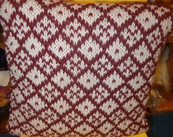 Hand Knitted Pillow